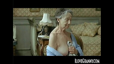 ILoveGrannY Horny Naked and Down on All Fours
