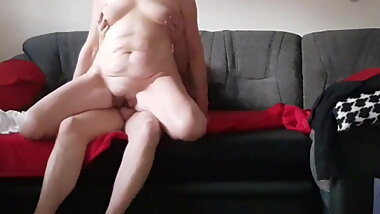 Very Horny Granny Ride My Big Cock