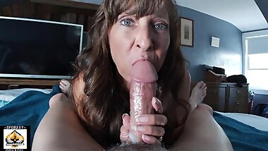 Sexy Granny Oral Pleasure Big Cumshot Swallows
