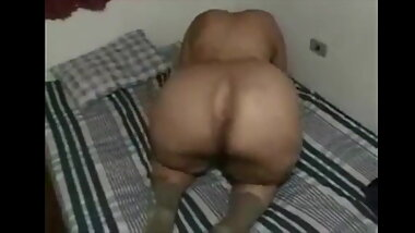 Granny uses her Big Ass to bust a guys nut
