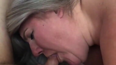 MILF wife sucking a cock