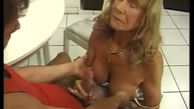 Another German, blonder granny fucking.