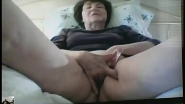 Granny on web cam with hubby present