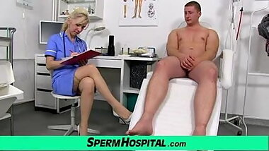 Medical fetish handjob with hot lady Maya