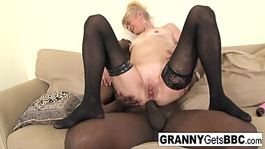 Hot interracil compilation from Granny Gets BBC