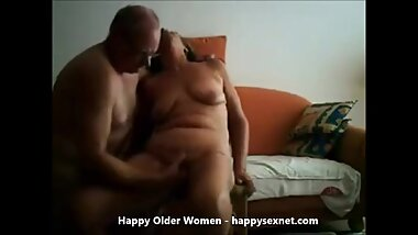Great orgasm of gorgeous granny fingered