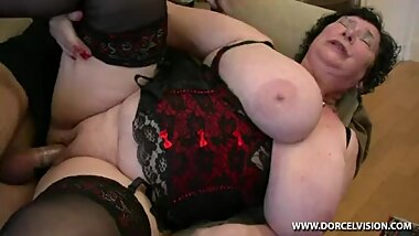French Bbw Granny Olga with younger guy