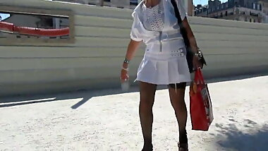 Granny Mary Short skirt and stockings